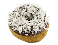 Chocolate Iced Coconut Donut