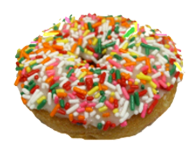 Sprinkled Cake Donut with Vanilla Icing