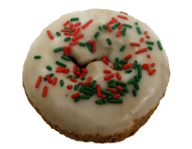 Christmas Sprinkled Cake Donut