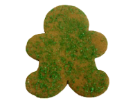 Gingerbread Man with Green Crystal Sugar