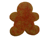 Gingerbread Man with Red Crystal Sugar