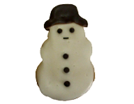 Decorated Snowman Cookie