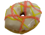 Spring Drizzled Yeast Ring Donut
