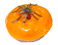 Halloween Devil's Food Cake Donut