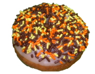 Autumn Sprinkled Cake Donut
