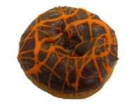 Halloween Chocolate Iced Cake Donut