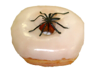 Vanilla Yeast Donut with Spider Ring