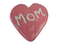 MOM Heart Cookie