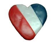 Heart Flag Cookie