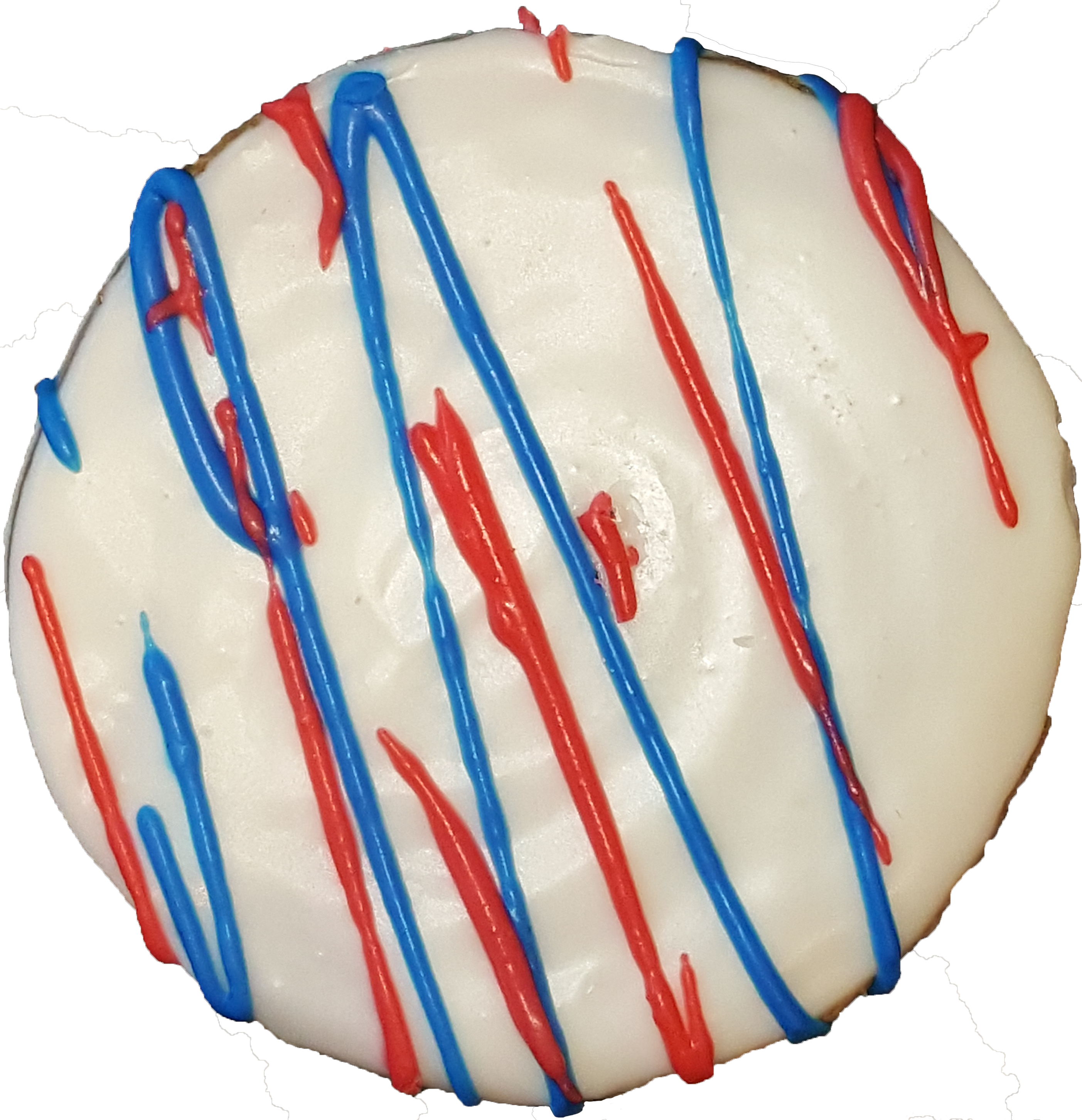 Red, White & Blue Drizzled Cookie