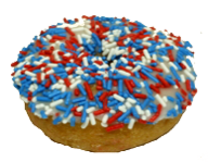 Red, White & Blue Sprinkled Cake Donut