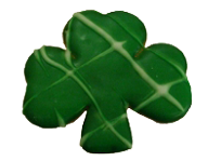 Drizzled Green Shamrock Cookie