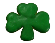 Green Iced Shamrock Cookie