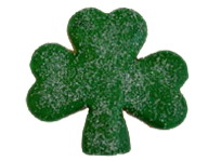 Green Iced Sugared Shamrock Cookie
