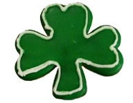 Outlined Shamrock Cookie