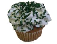 St. Patrick's Sprinkled Cupcake