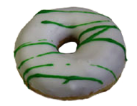 St. Patrick's Yeast Ring Donut with Drizzle