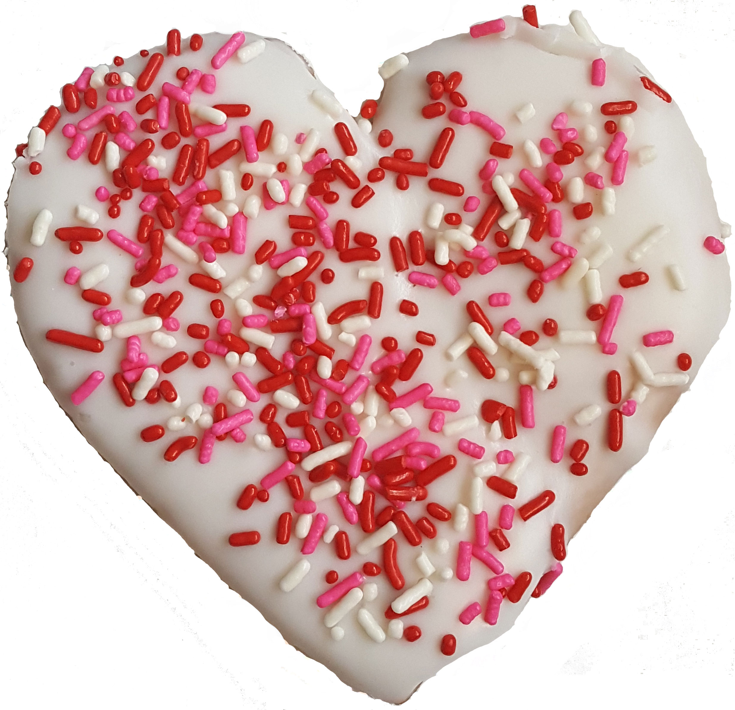 Heart Cookie with Sprinkles