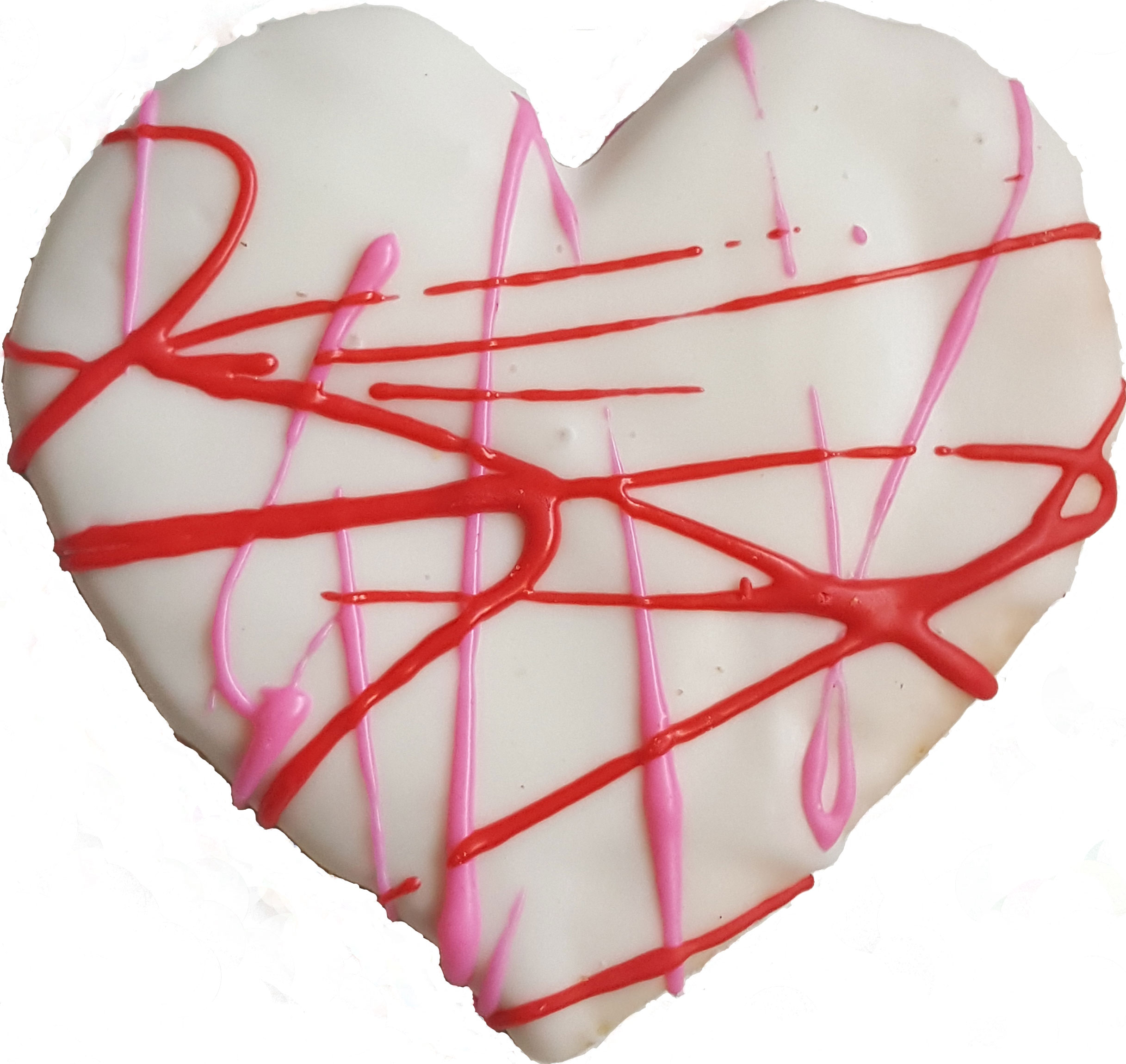 Iced Heart Cookie with Drizzle