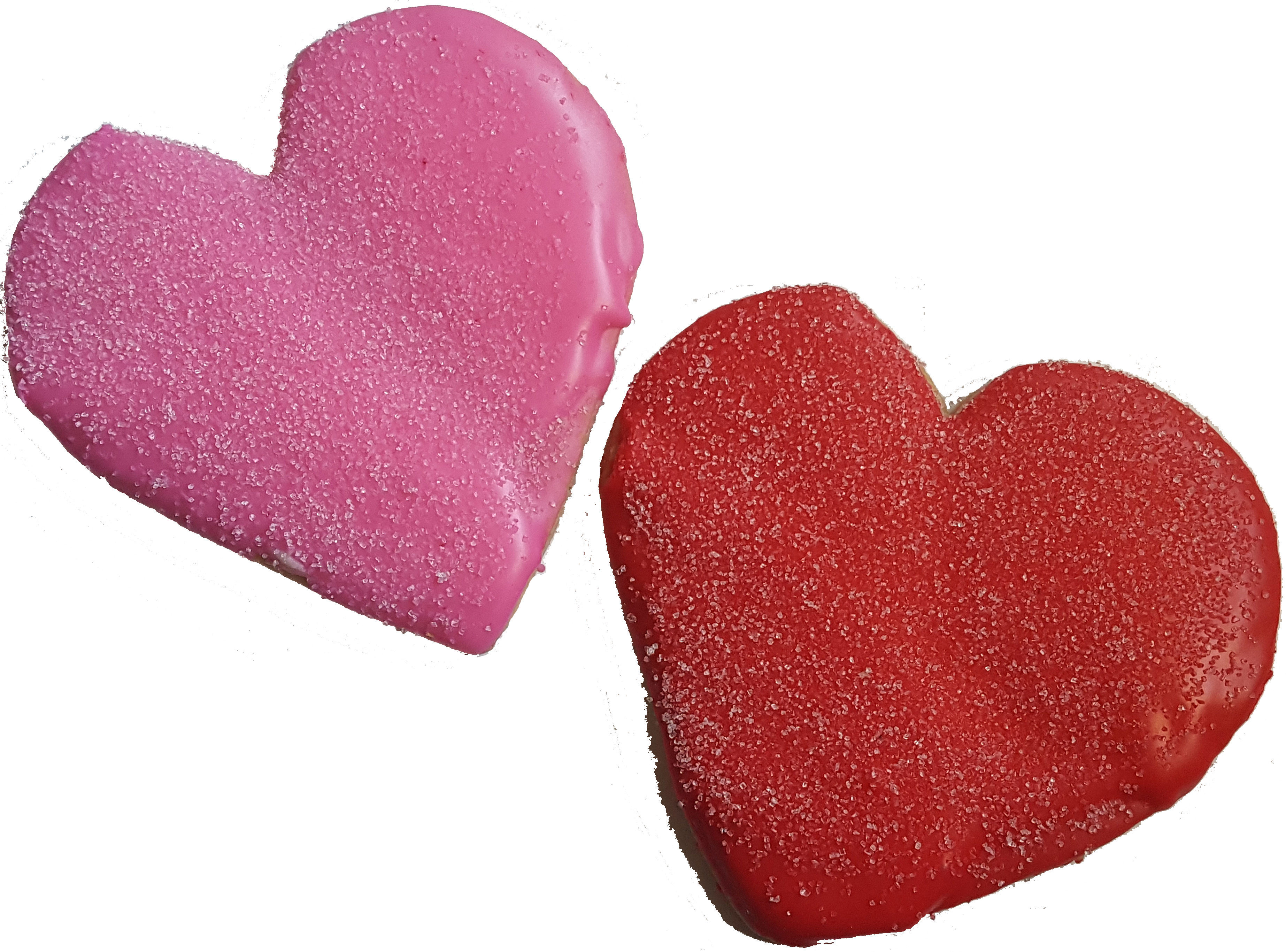Red or Pink Heart Cookies